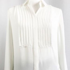 J. Crew Ivory Pleated Top